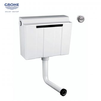 Grohe Adagio Concealed Dual Flush Cistern with Flush Button - 39054000