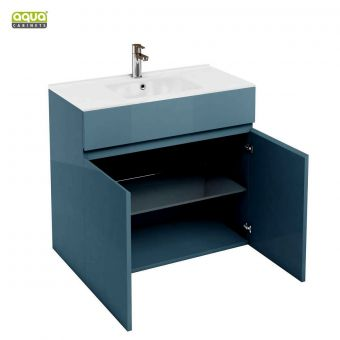 Aqua Cabinets D450 Two Door Bathroom Unit with Basin