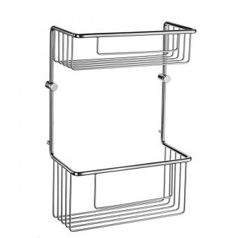 Smedbo Sideline Double Soap Basket (215 x 110mm, Height: 320mm)