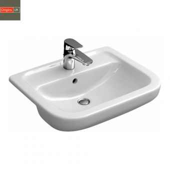 Origins Curve Semi-recessed Basin