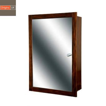 Origins Single Door Recessed Mirror Cabinet