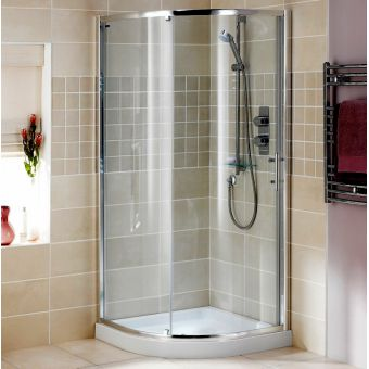 Showerlux Glide Round Single Door Shower Enclosure