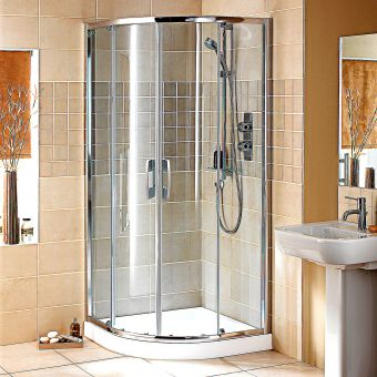 Showerlux Glide Round Twin Door Shower Enclosure