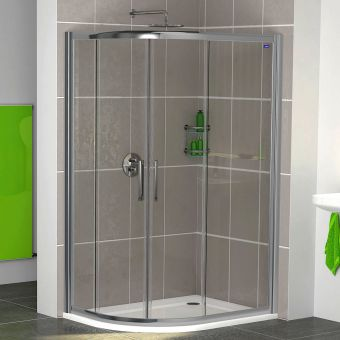 Showerlux Legacy Twin Door Offset Quadrant Shower Enclosure