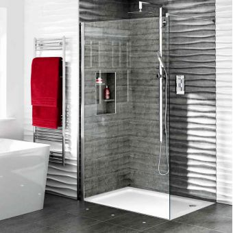 Aqata Spectra Walk-In Shower Screen SP400