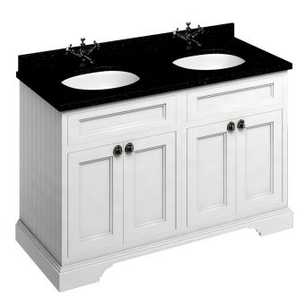 Burlington 130 Twin Basin Vanity Unit with Four Doors