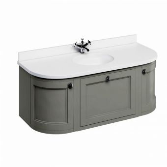 Burlington 134 Curved Wall Hung Vanity Unit