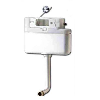Prozone Concealed Furniture Cistern With Chrome Push Button