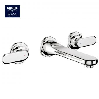 Grohe Veris 3 Hole Wall Mounted Basin Mixer Tap
