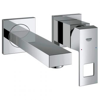 Grohe Eurocube 2 Hole Wall Mounted Basin Mixer Tap
