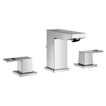 Grohe Eurocube Contemporary 3 Hole Basin Mixer Tap