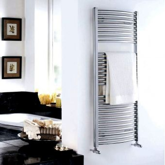Essential Curved Chrome Towel Warmer