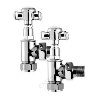 Essential Crosshead Angled Radiator Valves (Pair 15 mm). - 148994