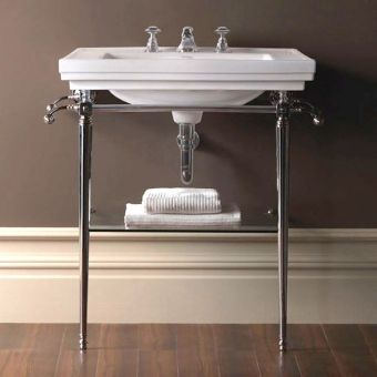 Imperial Large Basin Stand with Astoria Deco Basin