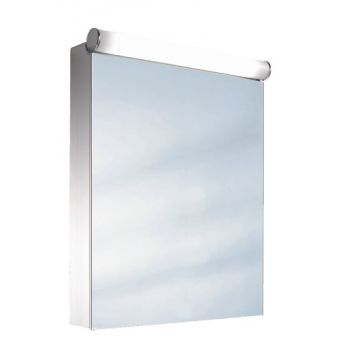 Schneider Prideline 1 Door Mirror Cabinet with Flourescent Lighting
