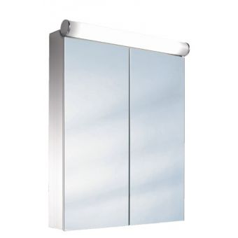 Schneider Prideline 2 Door Mirror Cabinet with Flourescent Light