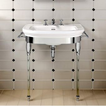 Imperial Carlyon Basin Stand with Glass Legs and Large Basin