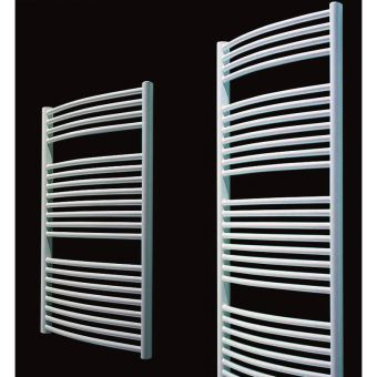 Mere Blenheim Curved Multirail Radiator - White