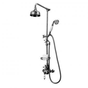 Imperial Victorian Exposed Shower Valve with Handset and Fixed Head