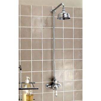 Imperial Victorian exposed shower valve with 5 inch Flowmaster shower head