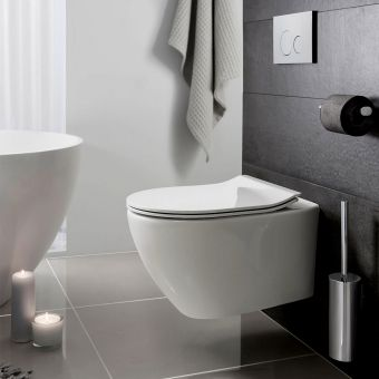 Laufen Pro Wall Hung Rimless Toilet Uk Bathrooms