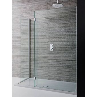 Simpsons Design Semi Frameless Walk In Shower Panel Uk