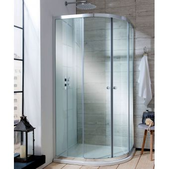 Simpsons Edge Quadrant Double Door Shower Enclosure