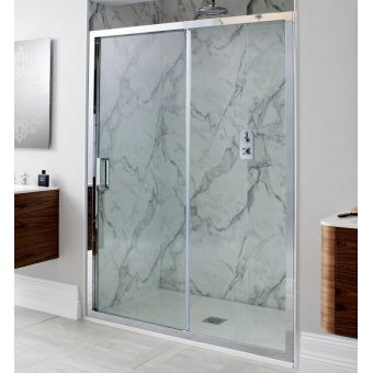 Simpsons Elite Single Slider Shower Door