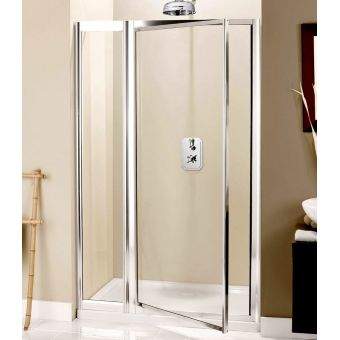 Crosswater (Simpsons) Supreme Pivot Door with Inline Panel