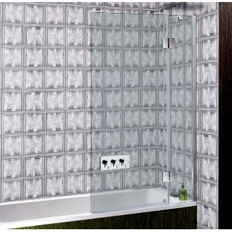 Crosswater (Simpsons) Ten Hinged Bath Screen