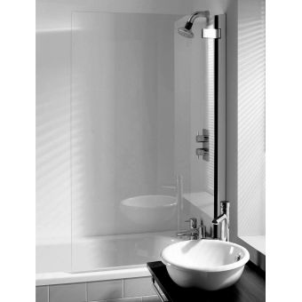 Crosswater (Simpsons) Classic Hinged Bath Screen
