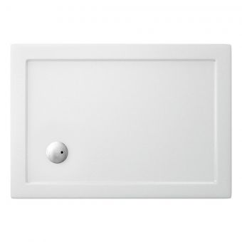Crosswater (Simpsons) Rectangular 35mm Acrylic Shower Tray with Corner Waste