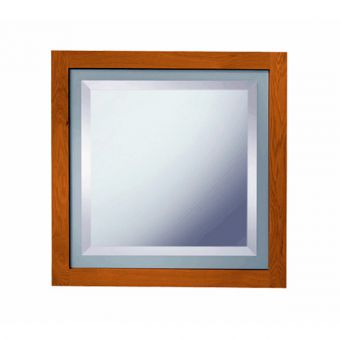 Imperial Linea Mirror with green feature glass border