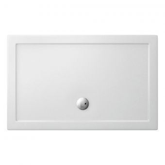 Simpsons Rectangular 35mm Acrylic Shower Tray with Centre Waste