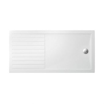 Simpsons Rectangular 35mm Acrylic Shower Tray with Drying Area