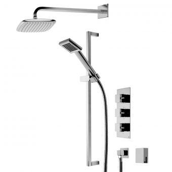 Roper Rhodes Event Square Triple Function Shower System - SVSET19