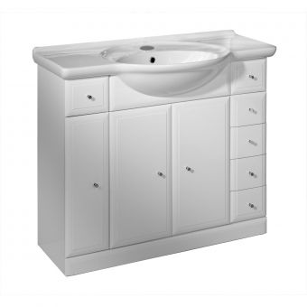Roper Rhodes Valencia 1000mm 3 Door Unit with Basin