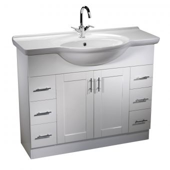 Roper Rhodes New England 1000mm freestanding unit with basin - NVB10W