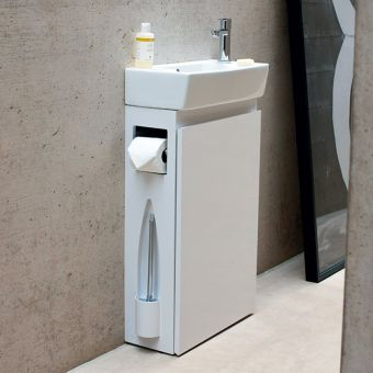 Aqua Cabinets All-in-One Cloakroom Unit With Basin
