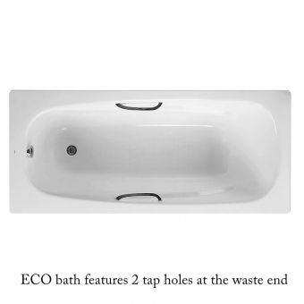 Roca Carla Eco Steel Bath 1700 x 700mm With Anti Slip