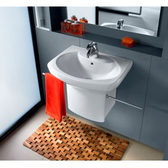 Roca Senso Compact Cloakroom Basin with Integrated Trap Cover