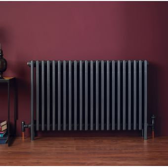 Bisque Classic 4-Column Deep Radiator with Feet