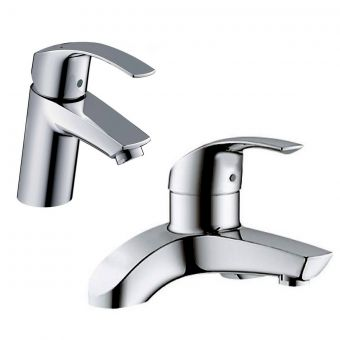 Grohe Eurosmart Basin Mixer and Bath Filler