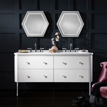 Bauhaus Waldorf Double Vanity Unit, with Legs