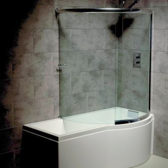 Shower Baths Both P & L Shaped From Leading Brands Cleargreen : UK ...