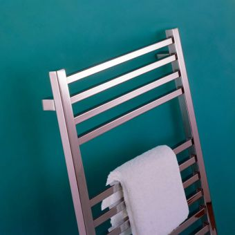 Bisque Quadrato Stainless Steel Towel Radiator