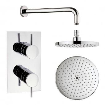 Origins Recessed Thermostatic Shower Valve and Fixed Shower Head