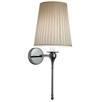 Imperial Pendant Light with Cream Pleated Shade