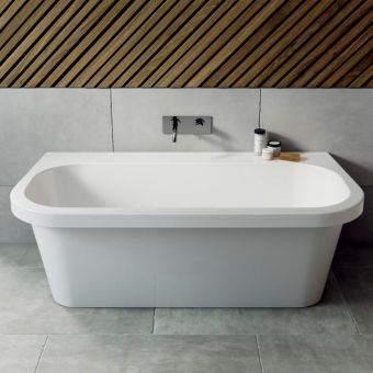 Ramsden & Mosley Jersey Back To Wall Double Ended Freestanding Bath