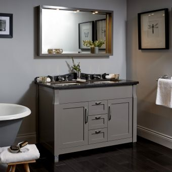 Imperial Radcliffe Westbury Twin 2 Door Vanity with 3 Drawers